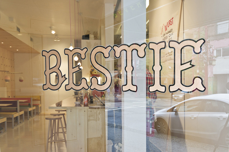 View Through the Storefront Window at Bestie by Scott and Scott Architects