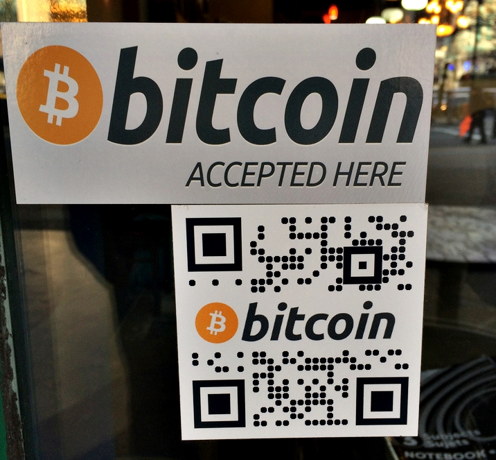 Bitcoin Accepted Here Waves Coffeehouse Vancouver by Marc van der Chijs