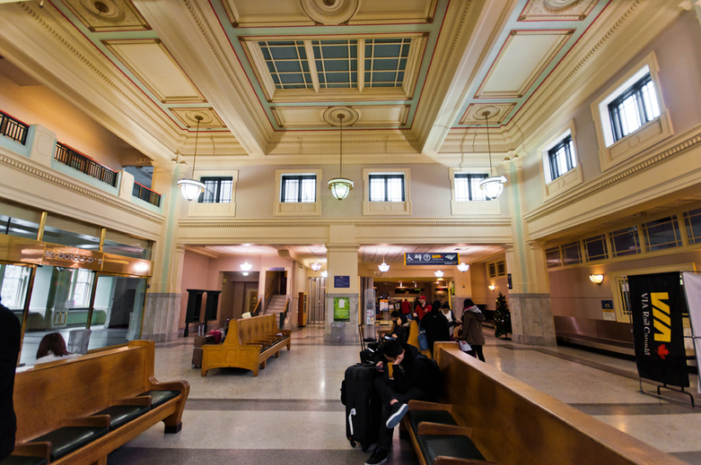 Interior  Central Station in Vancouver