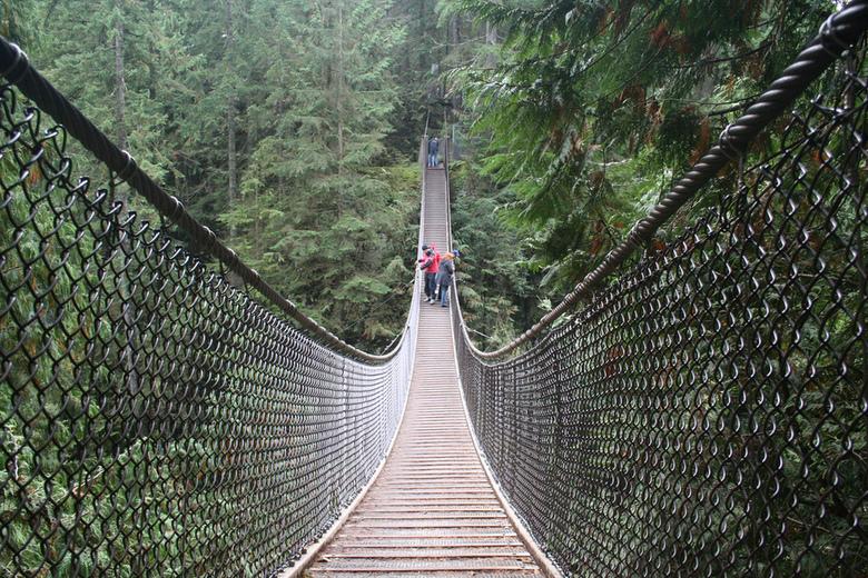 Lynn Canyon Suspension Bridge by Chris Morisawa