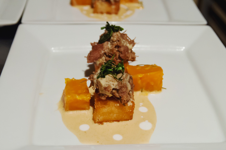 16 NFA Course No2 Green Curry Lamb Shangs With Crispy Sushi Rice