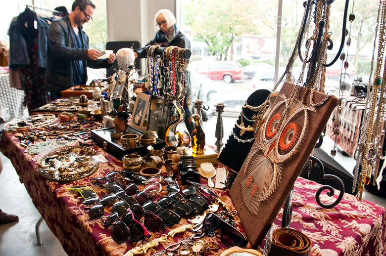 1The visitors love handmade and recycled items