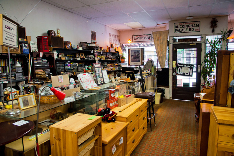 9 The antique store sells furniture and even electronics
