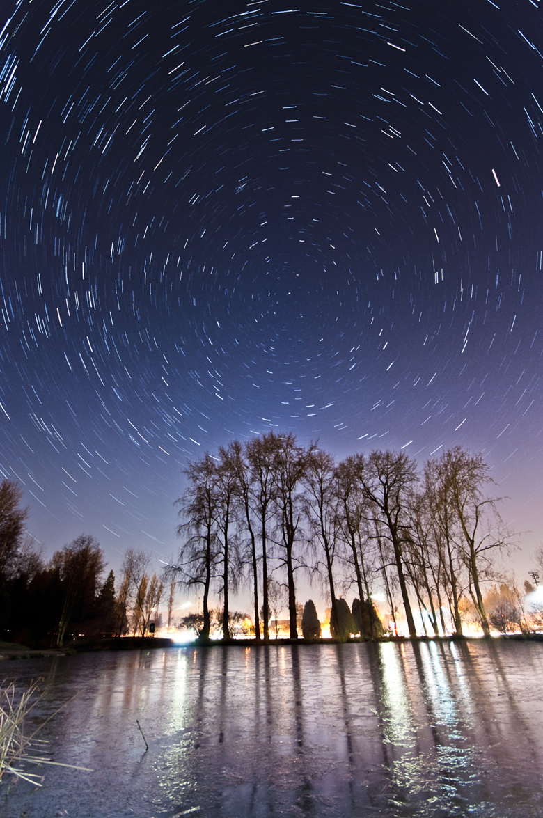 4 Star Trails in the Queen Elizabeth Park