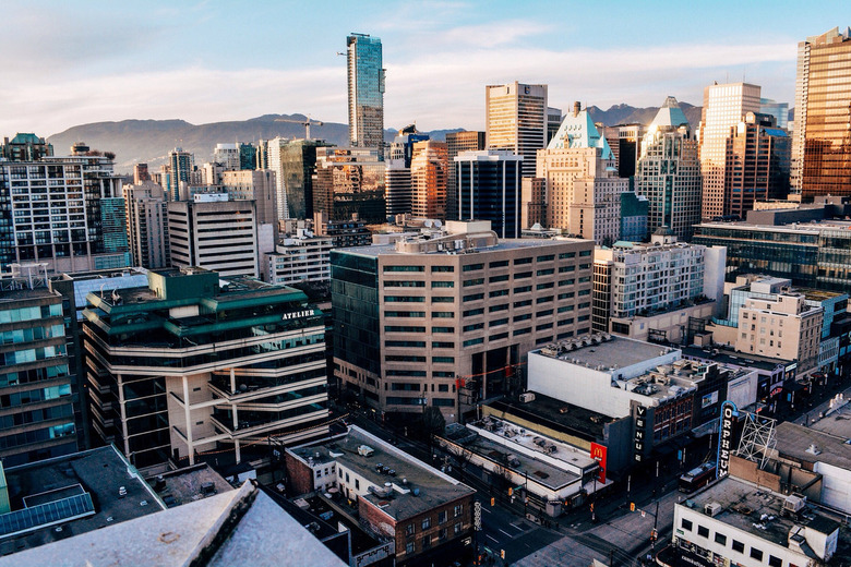 Sunlit Downtown Vancouver by