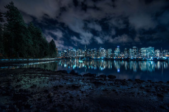 Coal Harbour From Stanley Park
