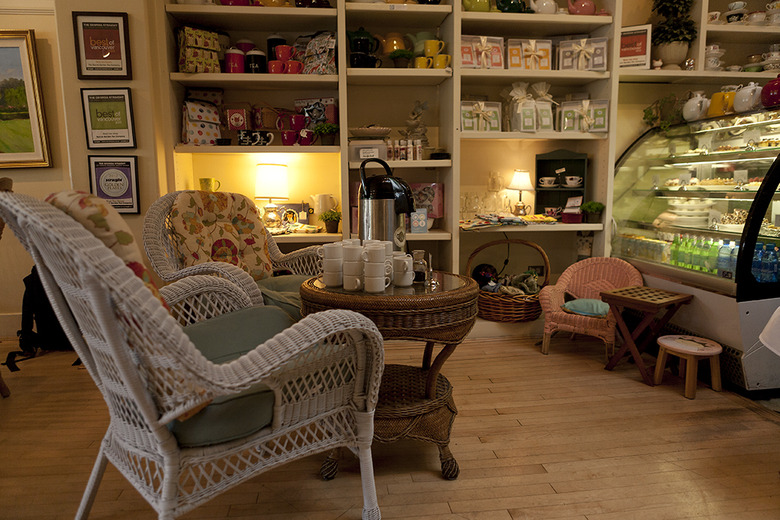 4 The interior of the small shop is cozy
