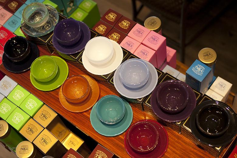 6 Colourful Tea Cups