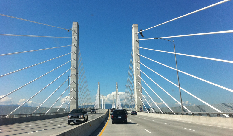 Crossing the Fraser River by Alan Levine