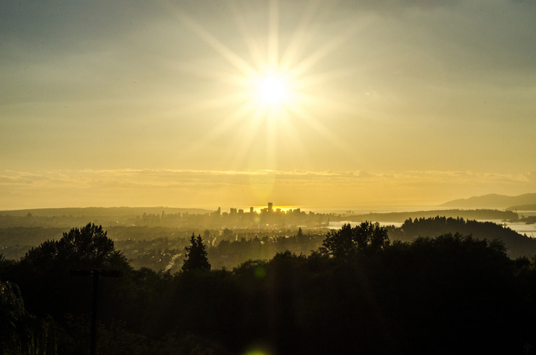 Sun Over Vancouver by Jerry Meaden
