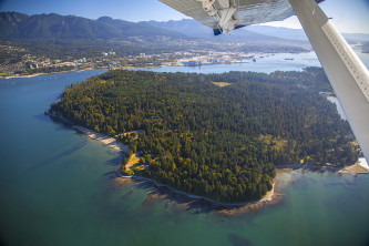 Aerial View of Beautiful Vancouver