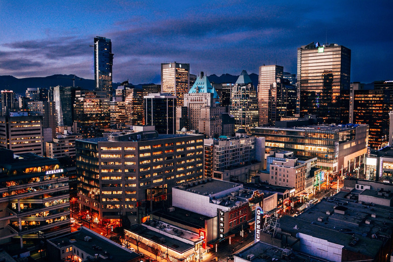 vancouver at dusk by Alex Costin