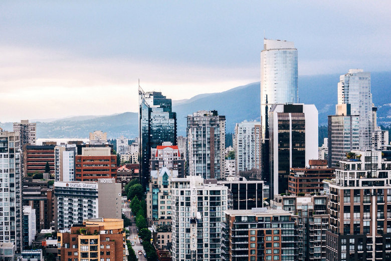 Vancouver from a Yaletown rooftop by Alex Costin