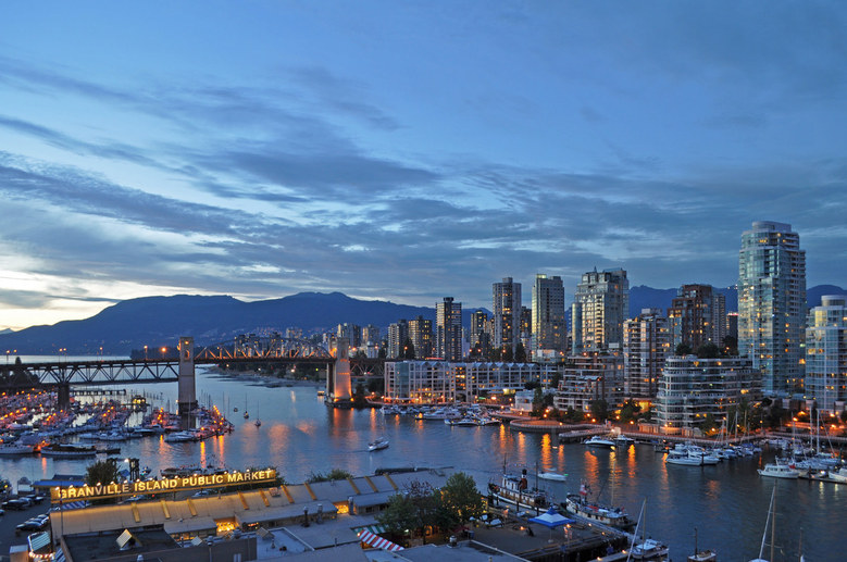 Vancouver  False Creek Burrard Bridge by Harshil Shah