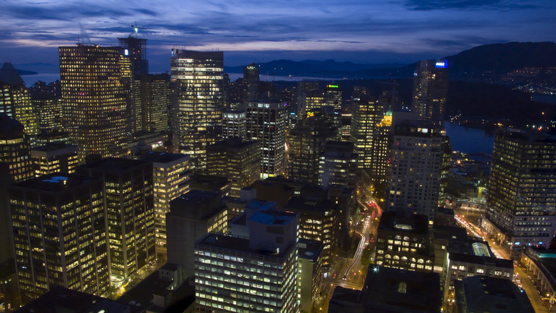 Vancouver at Night by Sebastian Gregorzyk