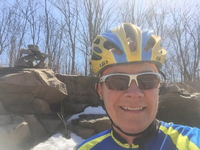 Julie on first bike ride of year