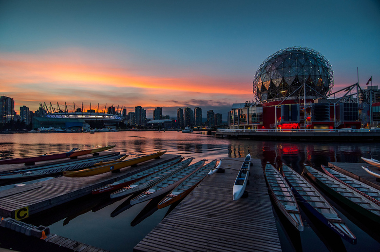 False Creek Sunset by Colin Knowles