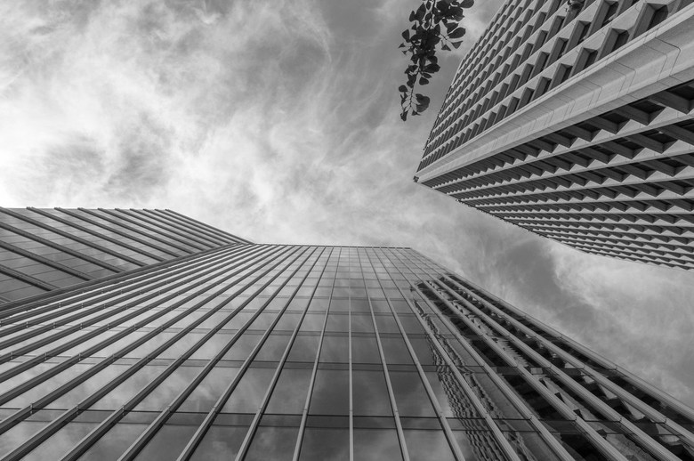 Vancouver downtown office buildings by Colin Knowles