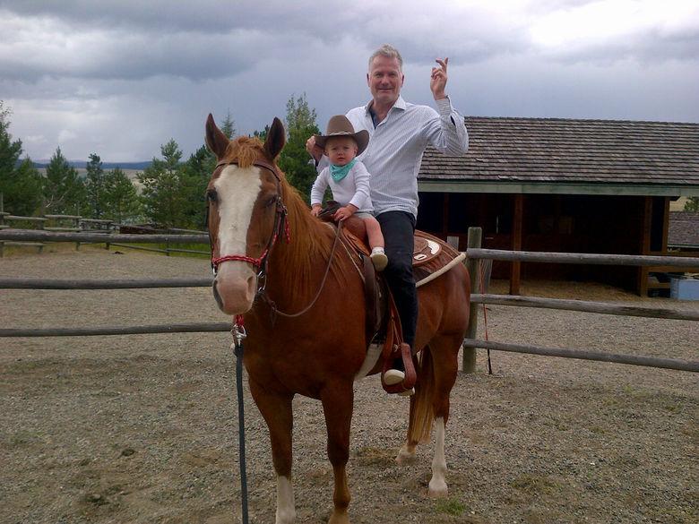 Alec and Constantin at Stump Lake Ranch