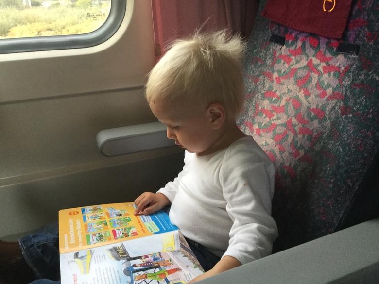 Constantin reading a book