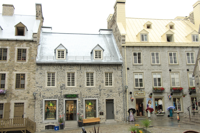 Restored French colonial public square in Lower Town