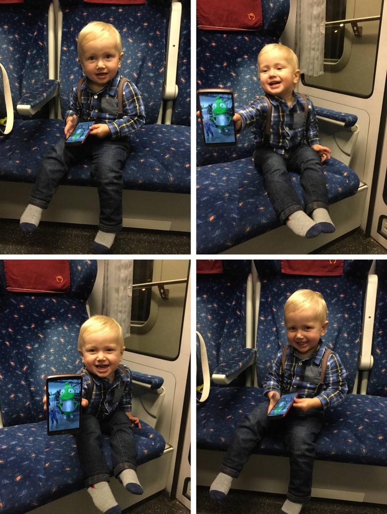 Constantin in the train