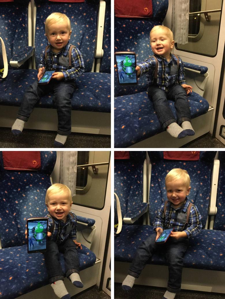 Constantin in the train