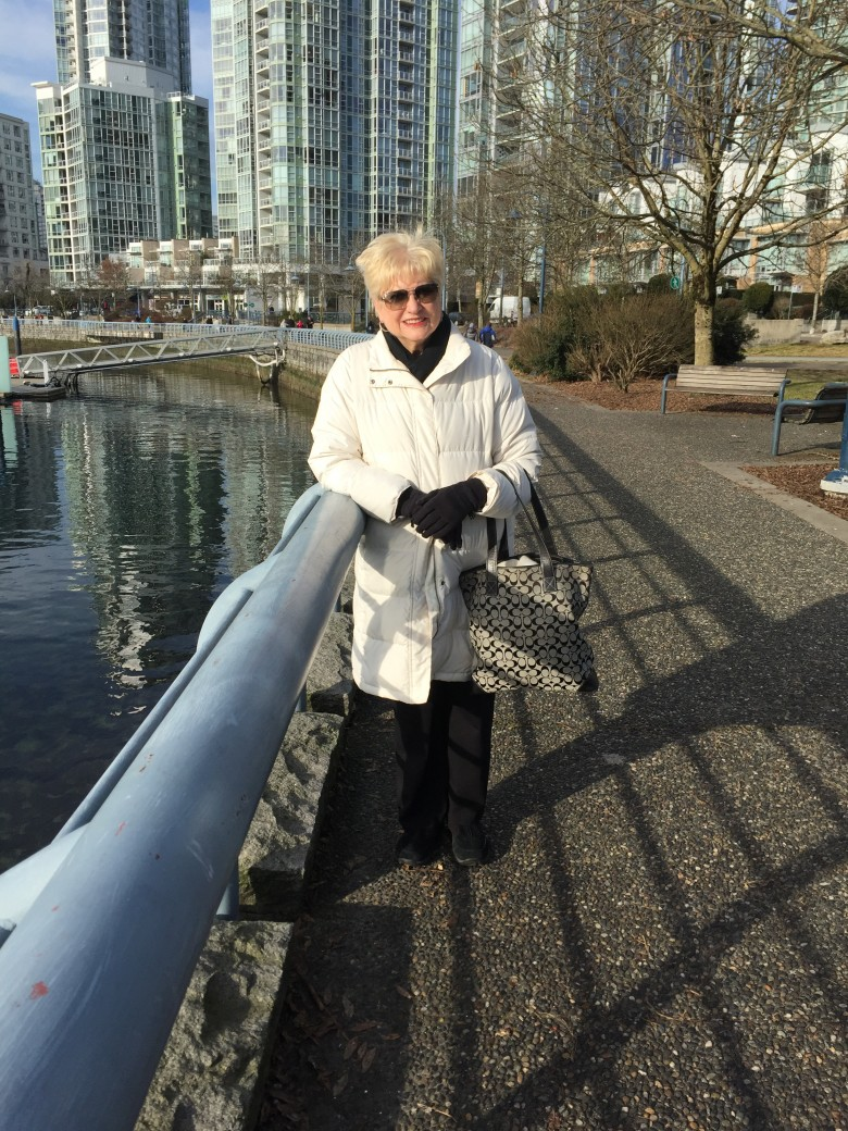 Brenda on Marinaside Seawall January 2017