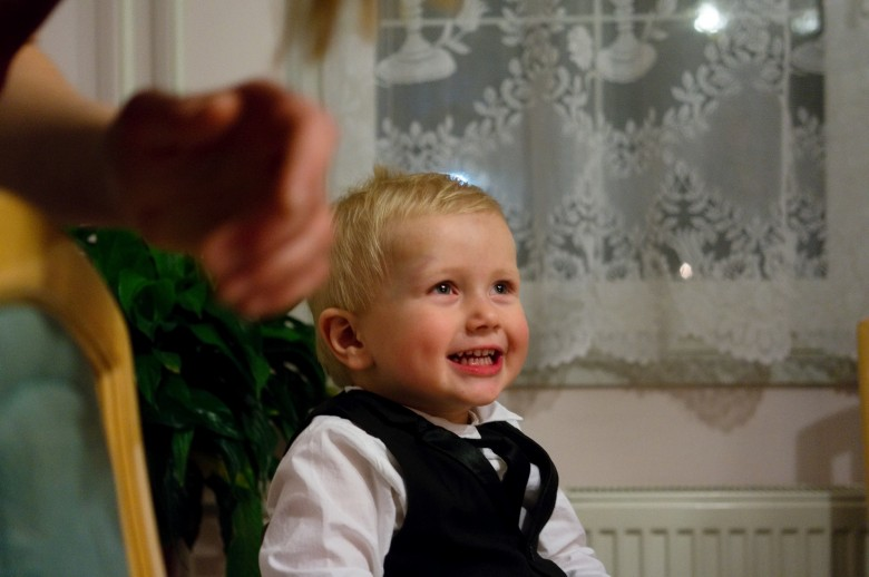 Constantin at Christmas dinner