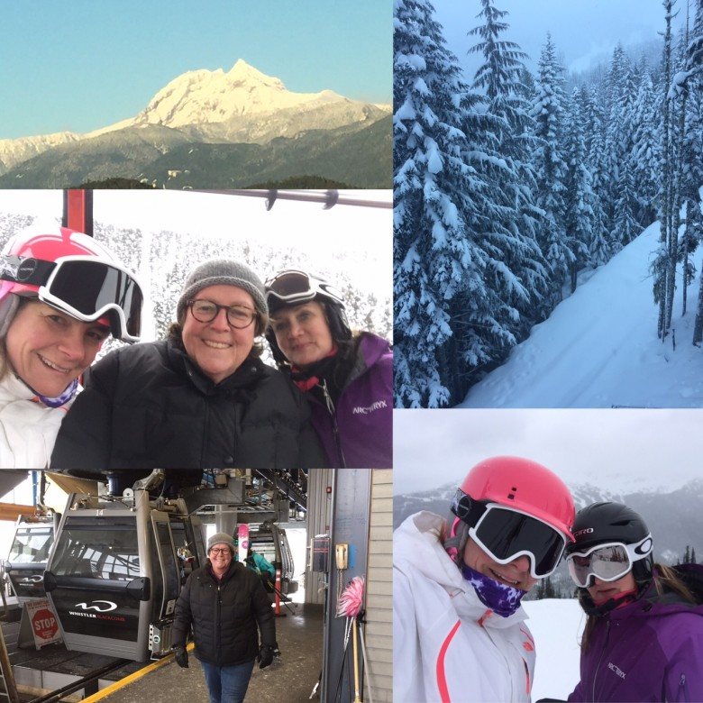 Julie, Mary and friend Tracey at Whistler December 2016