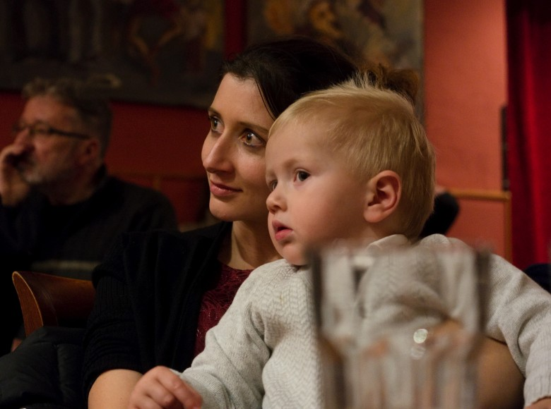 Lucia and Constantin at a jazz concert