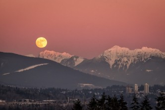 Moonrise Over Vancouver