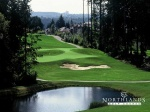 Northlands Golf Course fairway with water and sand hazards