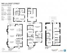 985 LILLOOET STREET - Vancouver East - Renfrew VE