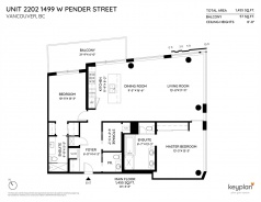 2202 1499 W PENDER STREET - Vancouver Coal Harbour And West End - Coal Harbour