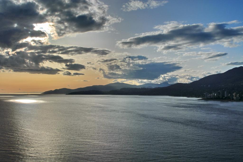 Burrard Inlet at sunset