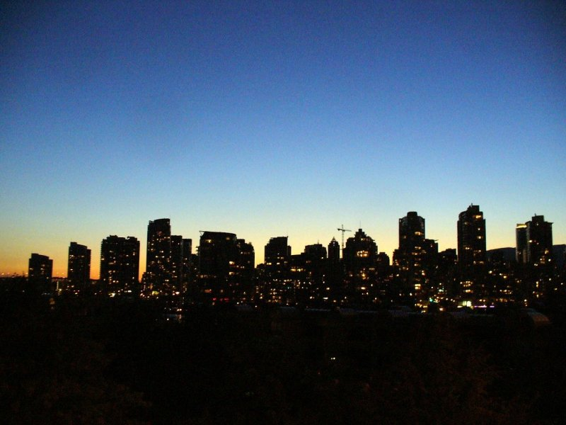 Canada Day Night view from Cambie Bridge