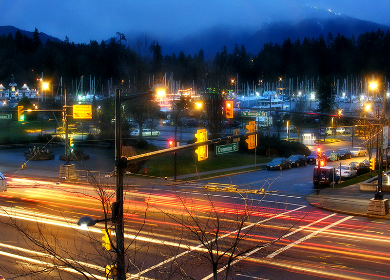 Coal Harbour at Night