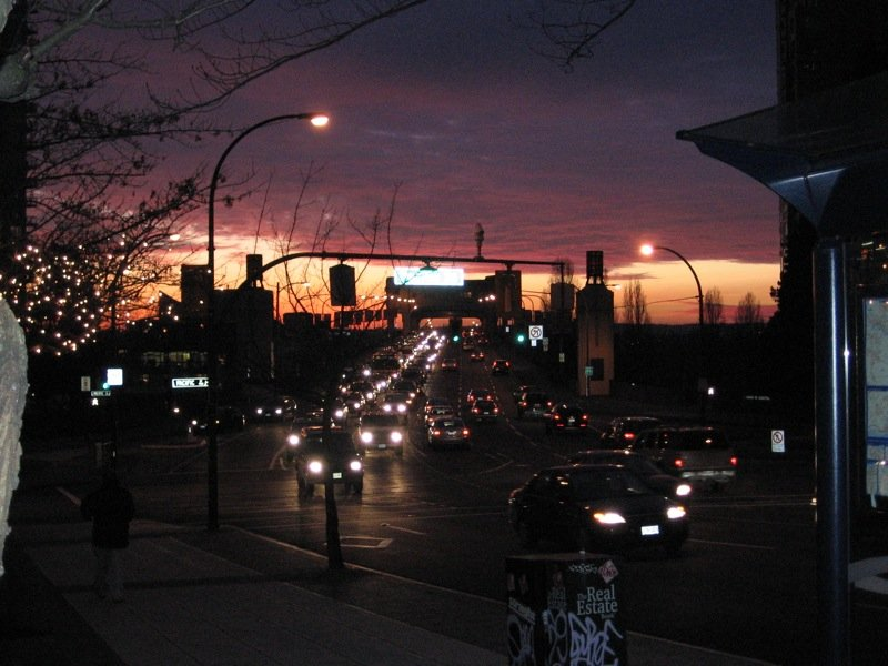Downtown sunset