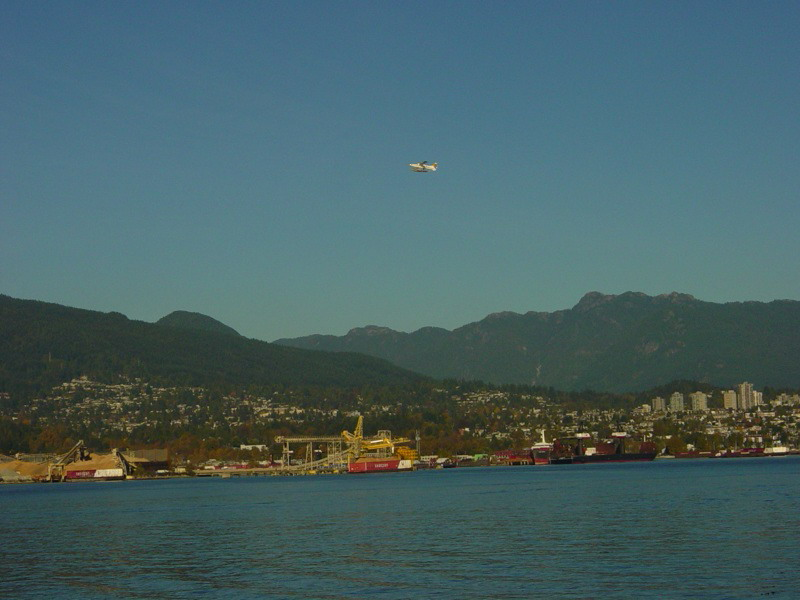 Float plane leaving Vancouver