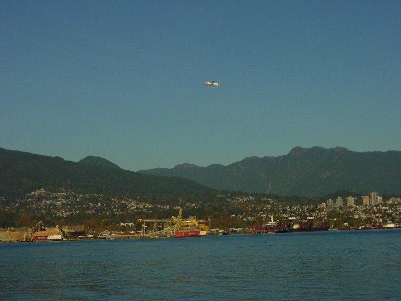 Float plane leaving Vancouver