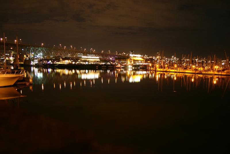Granville Island at night