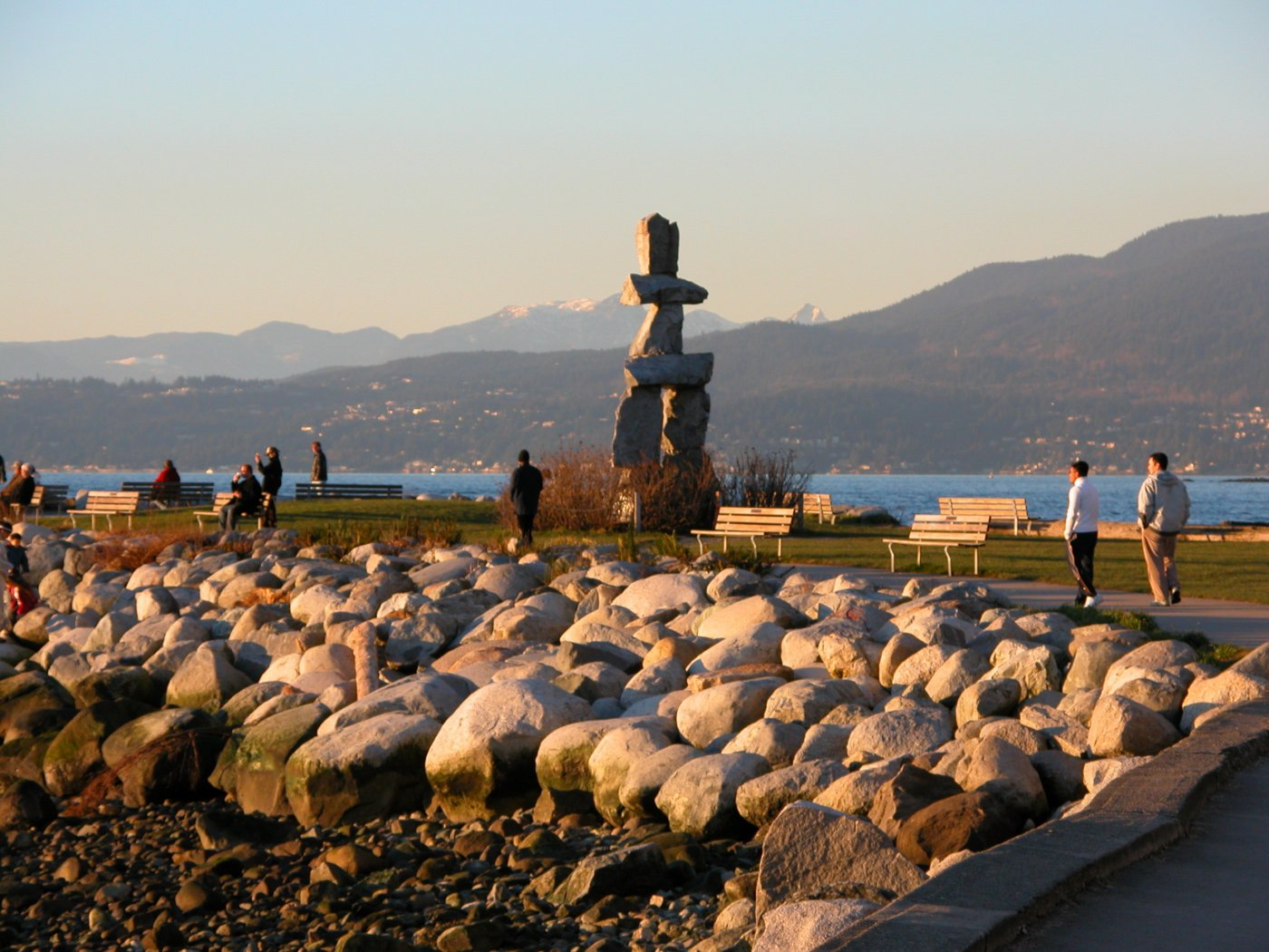 The big inukshuk in English Bay.