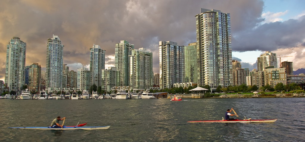 Kayakers in Vancouver