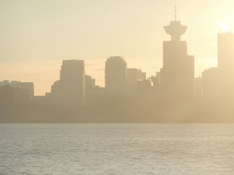 Vancouver Skyline Before Sunset