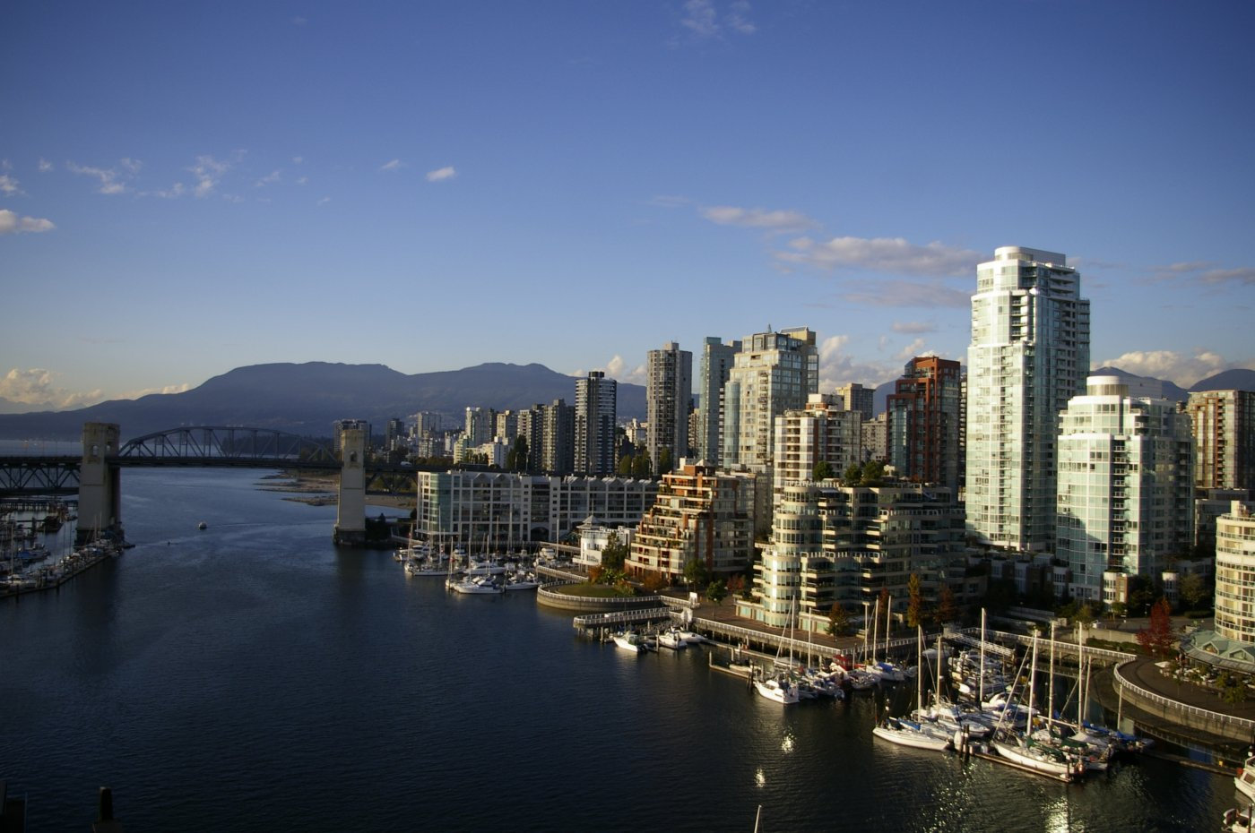 View from the Granville Bridge on West End Condos