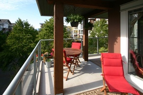 north facing sundeck