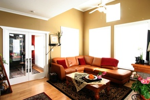 living room & den