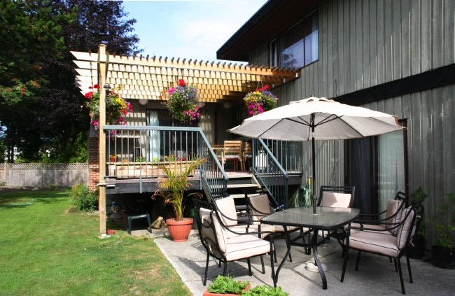 patio and sundeck