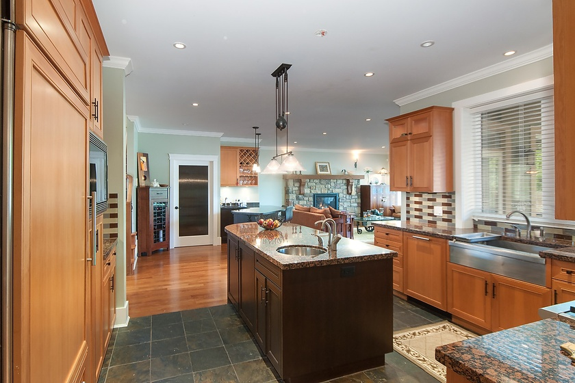 kitchen with view to great room